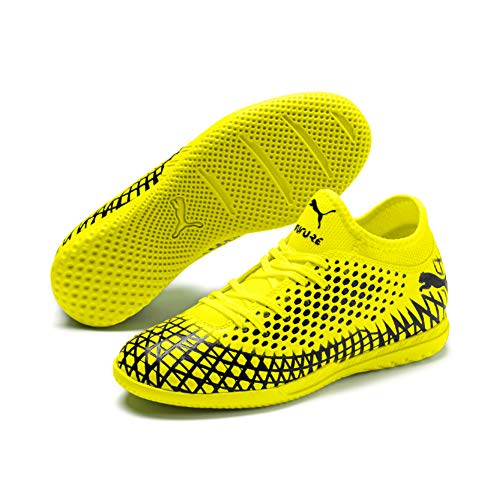 Puma FUTURE 4.4 IT Jr, Unisex-Kinder Fußballschuhe, Gelb (Yellow Alert-Puma Black 03), 34 EU (1.5 UK)