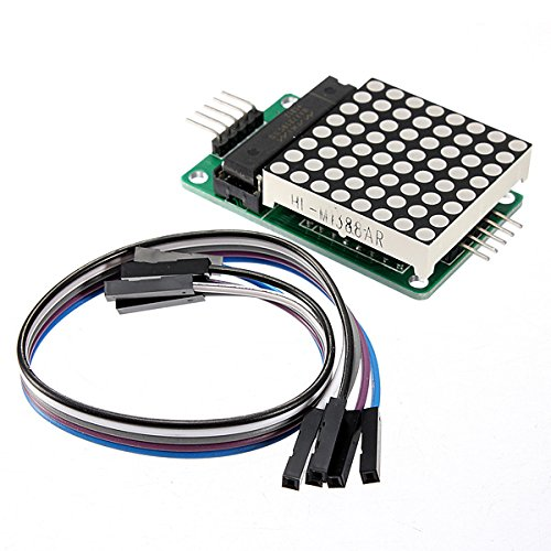 MYAMIA Max7219 Dot Matrix Mcu LED Display Control Modul Kit Für Arduino mit Dupont Kabel - Drucker, Dot-matrix-zubehör