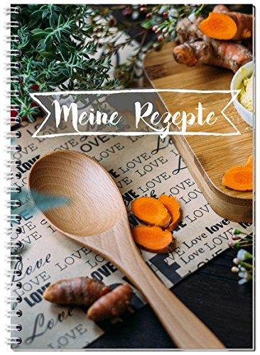Rezeptbuch zum Selberschreiben - mit Register / Ringbuch A5 Kochbuch / für all deine...
