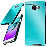 Samsung Galaxy A3 (2016) | Hülle Dünn Türkis [OneFlow Aluminium Back-Cover] Schutz Handytasche Ultra-Slim Handy-Hülle für Samsung Galaxy A3 2016 Case Metall Schutzhülle Alu Hard-Case