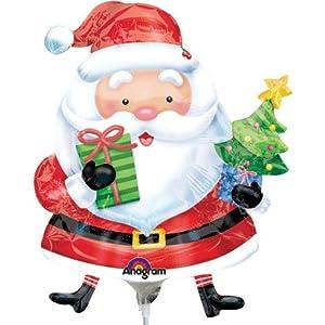 ANAGRAM 7A2727202 - Balón de fútbol con diseño de Papá Noel con árbol de Navidad, inflado con Aire