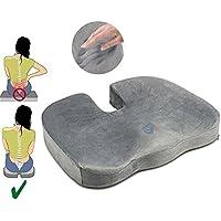 Cojin Ortopédico Coxis para silla y asiento. Alivia el dolor y corrige la postura de Espalda y Lumbar. Cuida de tu salud, para Coxis, hemorroides, hernias, Cojin Antiescaras
