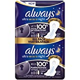 Always Ultra Secure Night Lot de 10 x 18 serviettes hygiéniques