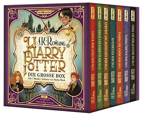 Kostüm Buch Lehrer Figur - NN. J.K. Rowling - Harry Potter Die Große Jubiläums Box mit Allen 7. Bänden als Hörbuch gelesen von Rufus Beck