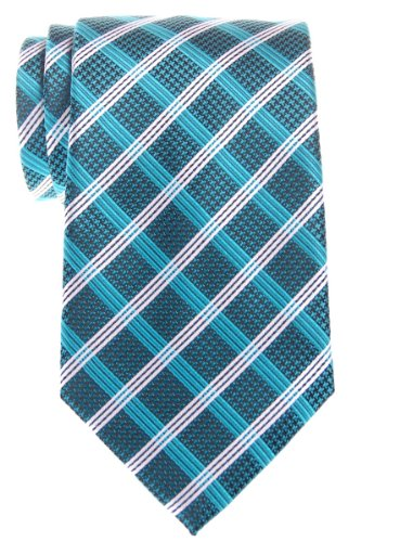 Retreez elegante Vintage de cuadros escoceses con tejido de microfibra para hombre corbata–varios colores Turquesa turquesa Talla única