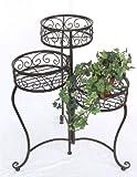 Blumentreppe HX12555 Blumenständer 63cm mit 3 Körbe Hocker Blumenhocker Regal