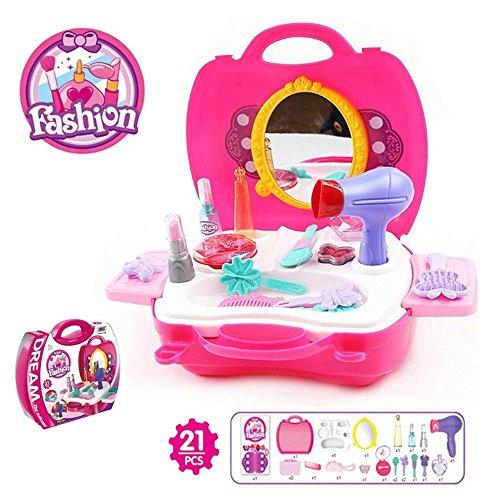 BOWA 21 Piezas de belleza Maquillaje Set Juego de imaginación juguetes para los niños