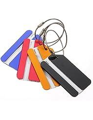 SODIAL(R) 5 piezas de metal de vacaciones Viajes de equipaje Equipaje Maleta ID Tag Hebilla Direccion Titular Label - color al azar