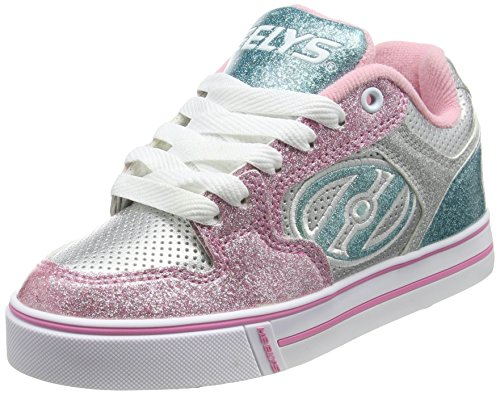 Heelys Motion Plus, Sneakers Basses Fille Argent (Silver / Light Pink / Light Blue)