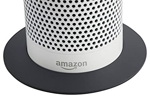 Echo White Stand (Deluxe Grey Base) by Soundbass | High-End Discreet Plinth Design | Exceptional Improvements In Stability | Grey Color Matched Finish | Perfect Protection For Alexa