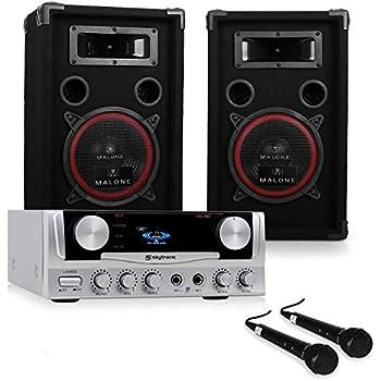 PA Anlage EASY DJ Set Verstärker Boxen Mikrofone 1000W