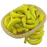 Gresorth 40 Stück Künstliche Lebensechte Mini Gelb Banane Deko Gefälschte Früchte Obst Party Festival Dekoration