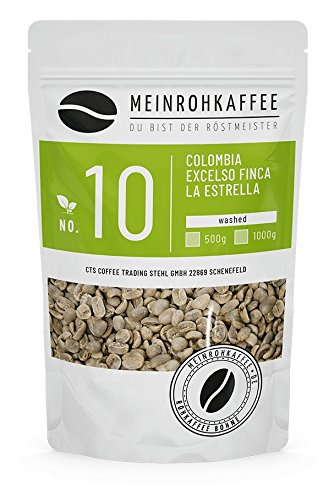 Rohkaffee - Colombia Excelso La Estrella (grüne Kaffeebohnen) - vollmundig, starker Körper und...