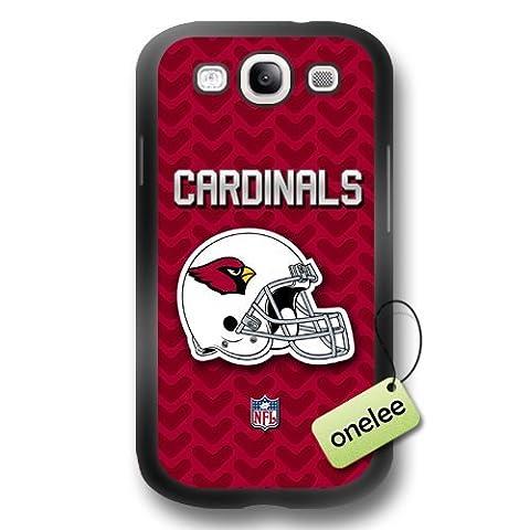 NFL Arizona Cardinals équipe Logo Noir Samsung Galaxy S3(i9300) en caoutchouc (TPU) Coque souple Housse–Noir