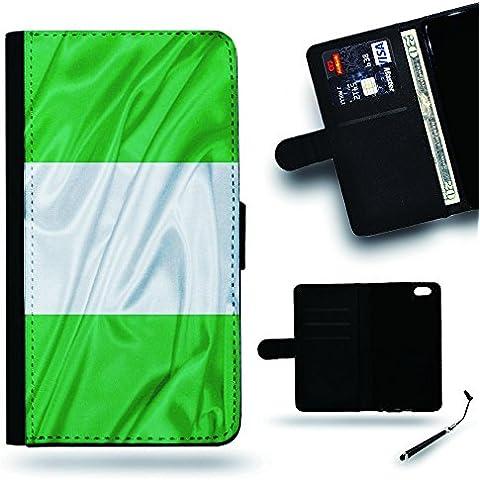 Per Cellulare Negozio//2016Coppa Coppa del Mondo Case Cover Protezione Completa Custodia a portafoglio in pelle Slot per Apple Iphone 6Iphone 6s iPhone6/iphone6s/Bandiera NIGERIA seta drappeggio