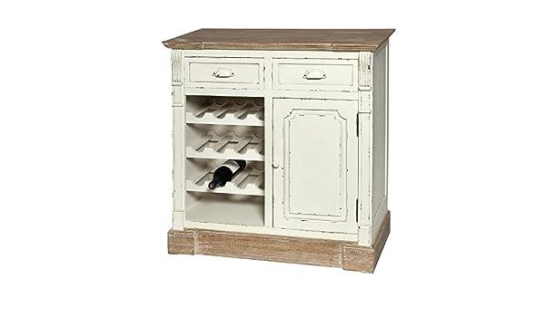 Credenza Per Vino : Scaffale per vino portabottiglie credenza country bianco legno