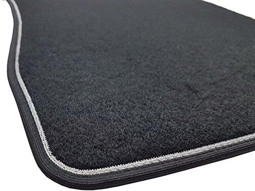 Il Tappeto Auto SPRINT00205 Tapis de sol en moquette noire, antidérapant, bord bicolore, talonnette renforcée en caoutchouc, pour A4 B6 / B7 2001 à 2007 Berline, Avant / Exeo 2008 à 2013