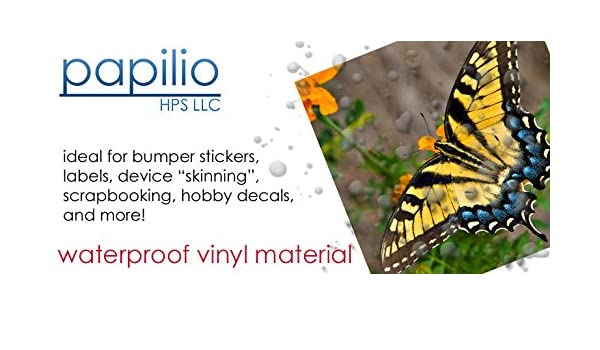 photograph relating to Papilio Printable Vinyl known as Papilio Inkjet White Vinyl Decal Paper 10 Sheets: