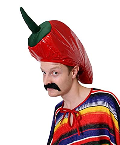 CHILLI PEPPER HAT FANCY DRESS HAT NOVELTY FOOD HEADWEAR MEXICAN SPICY CHILI