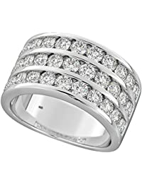 Heavy 925 Sterling Silver 3mm Flat Court Comfort Men/Ladies Wedding Band/Ring with Cubic Zirconia/CZ WJS14925