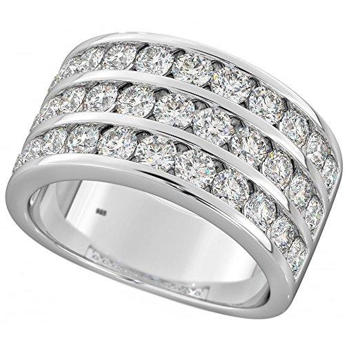 BestToHave Unisex Damen Herren -    Silber Brilliant Rund   Farblos Oxyde de Zirconium  (Diamant-herren Ring)