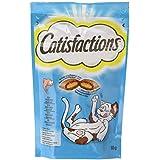 CATISFACTIONS Friandises au Saumon pour Chat et Chaton, 6 Sachets de 60g