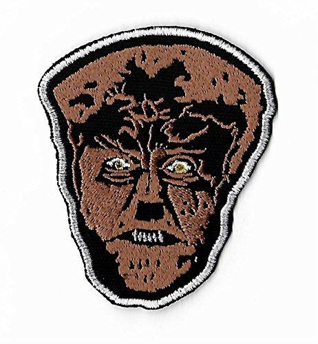 Kostüm Diy Halloween Wolf (Der Wolf Mann Patch Bestickt Eisen/Nähen auf Badge DIY Aufnäher/Lon Chaney Jr Horror Film Souvenir Kostüm Universal)