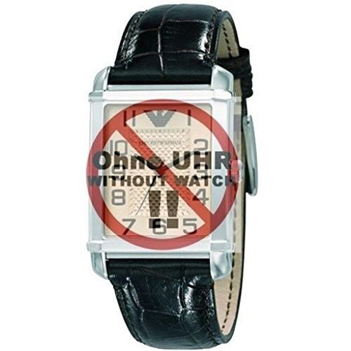 emporio armani ar Emporio Armani Uhrenarmband LB- AR0490 Ersatzband AR 0490 Leder 22 mm