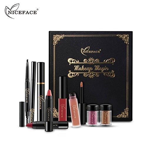 Kit de maquillage Kit Make Up cosmétiques Eyeliner Lipstick Lip Gloss crayon à sourcils Mascara Sets