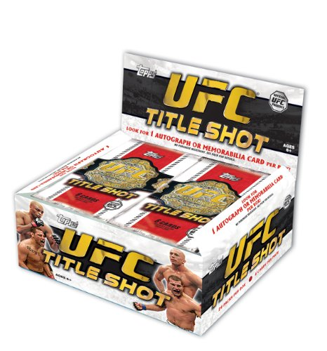 Topps UFC Titel Shot Trading Karten Folie Pack Box Abbildung 2
