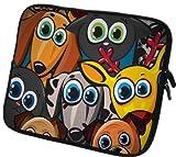 6 Zoll eBook-Reader (z.B. Amazon Kindle Paperwhite / Voyage / Oasis, Tolino Shine 2HD / Vision 3 HD, Kobo Glo HD / Aura, Icarus Ilumina HD, PocketBook Basic 2, Sony PRS-T3) Schutzhülle - sehr hochwertige & edel verarbeitete eReader Tasche aus wasserfesten Neopren mit eingenähter Doppelnaht, premium Reißverschluss und aufwendigen Designeraufdruck! Die Hülle eignet sich für eBook diverser Hersteller bis 165x120mm ( zirka 5,8' bis 6,3' ) 056
