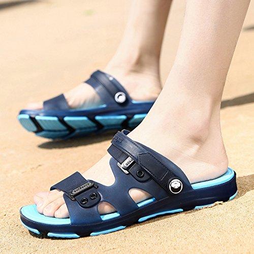 Fankou summer sandals men's sandals cleat men's outdoor plastic wear cool summer bath slippers beach shoes, 41,