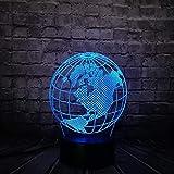Nachtlicht Globus Weltkarte 3D Led Lampe 7 Farben Stimmung Ändern Birne Kind Schreibtisch Dekorative Schlaf Lampe Gadget Geschenk