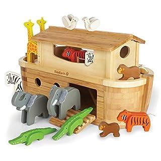 EverEarth EE33773- Arche Noah in Groß - mit 14 Tieren - Bambus und Holz