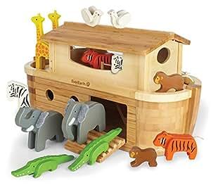 EverEarth EE33727 - Arche Noah in Groß - mit 14 Tieren - Bambus und Holz