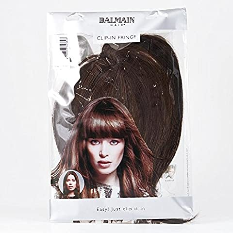 Frange Balmain Mémory hair Chocolat