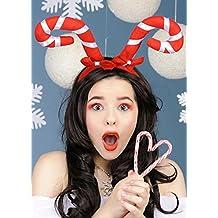 Diadema de bastón de caramelo de Navidad con arcos