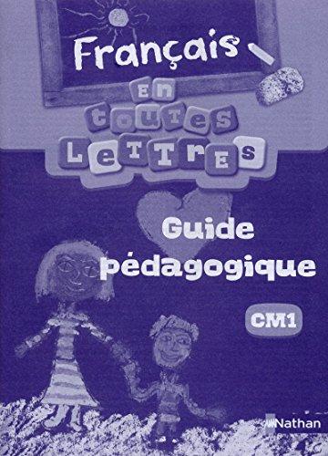 FRANCAIS CM1 GUIDE PEDAGOGIQUE