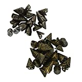 Sharplace 100 Pcs Protezioni Tallone Fiore Cono Cavo Filigrana Rinnovo Per Catene Per Mestiere DIY Gioielli Scrapbooking