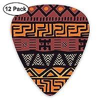 Geometric African Mud Cloth Tribal Classic Guitar Picks 12-Pack