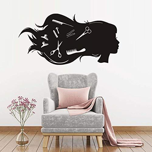 Perfekte Friseursalon Wandaufkleber Dekoration Zubehör Schönheit Modell Styling Kunst Aufkleber Tapete Für Friseur Wand-dekor 113 * 57 cm
