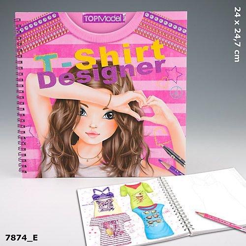 Imagen 5 de Depesche 7874 - Libro para colorear de diseños de camisetas para modelo - Top model t-shirt designer