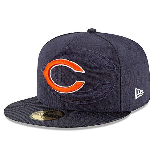 New Era Nfl Sideline 59Fifty Chibea Otc - Cappello Linea Chicago Bears da Uomo, colore Blu, taglia 7 3/8