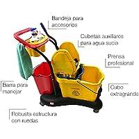Clim Profesional Carro de fregado Completo Profesional CLIM Compact. Sistema de fregado Profesional con Prensa
