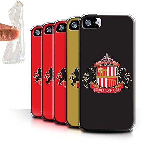 Offiziell Sunderland AFC Hülle / Gel TPU Case für Apple iPhone SE / Pack 6pcs Muster / SAFC Fußball Crest Kollektion Pack 6pcs