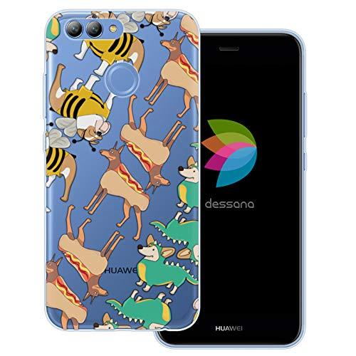 dessana Süße Tiere transparente Schutzhülle Handy Case Cover Tasche für Huawei Nova 2 Hunde im ()