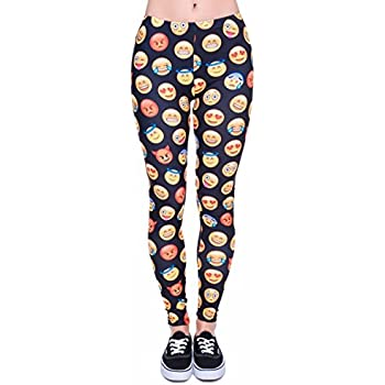 60d9f4e2e5caa Kukubird Printed Patterns Women's Yoga Leggings Gym Fitness Running Pilates  Tights Skinny Pants 8 to 12 Stretchable
