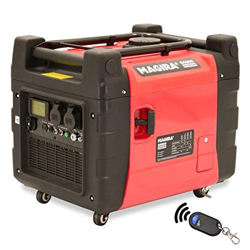 MAGIRA 4,0kW Inverter Stromerzeuger | 11 Varianten: 800W (0,8kW) - 7000W (7,0kW) | 12V 230V 4 kW Schallgedämpfter Benzin Stromgenerator | Notstromaggregat Inverter Generator mit E-Starter