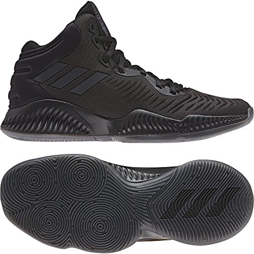 adidas Herren Mad Bounce 2018 Basketballschuhe, Schwarz Carbon/Cblack, 44 2/3 EU