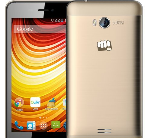Micromax Q336 Android Mobile Phone with 5 inch screen (Champagne)